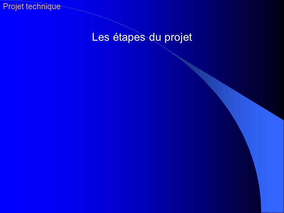 Projet technique Les étapes du projet
