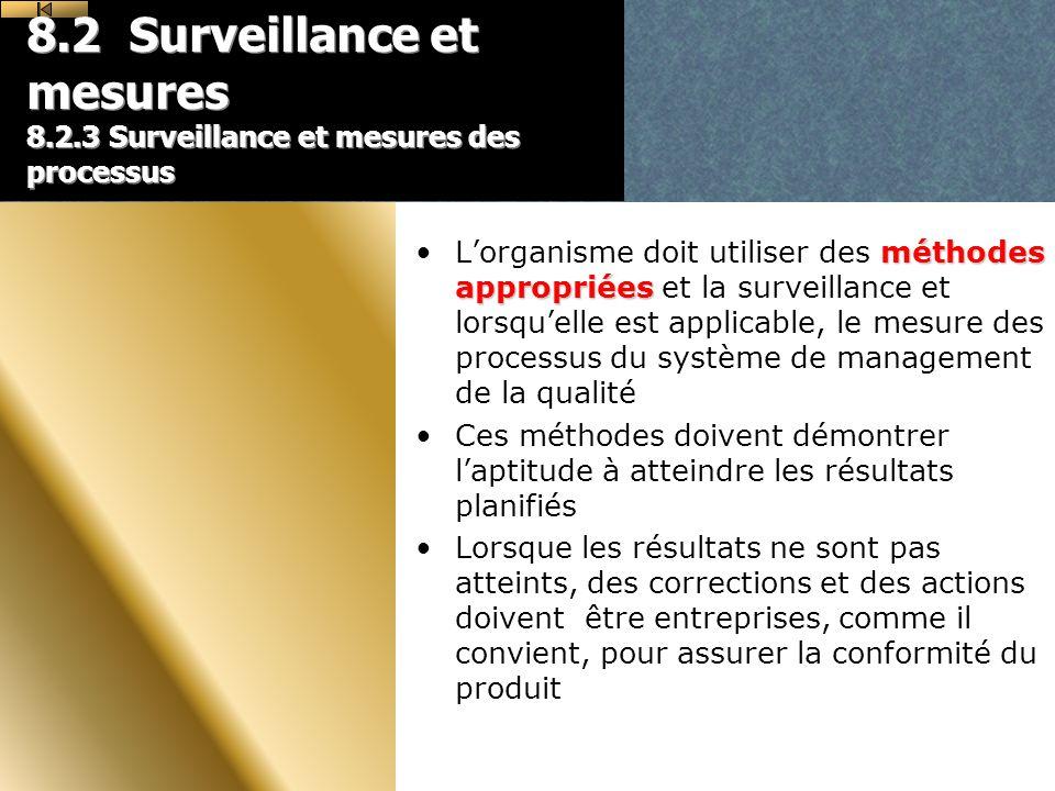 8. 2 Surveillance et mesures 8. 2
