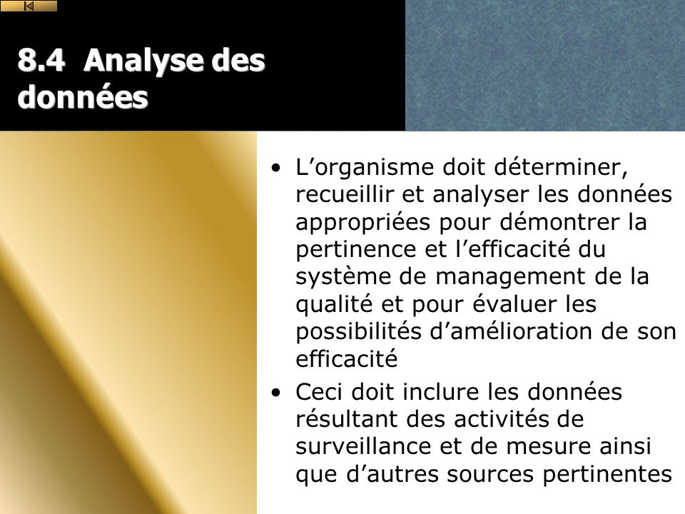 8.4 Analyse des données