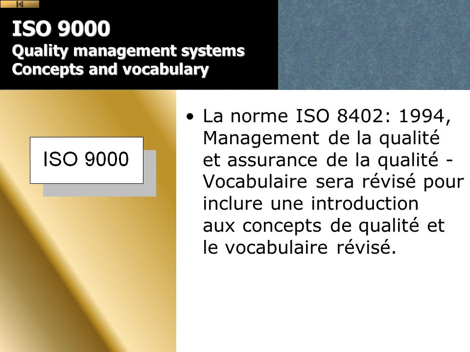 ISO 9000 Quality management systems Concepts and vocabulary