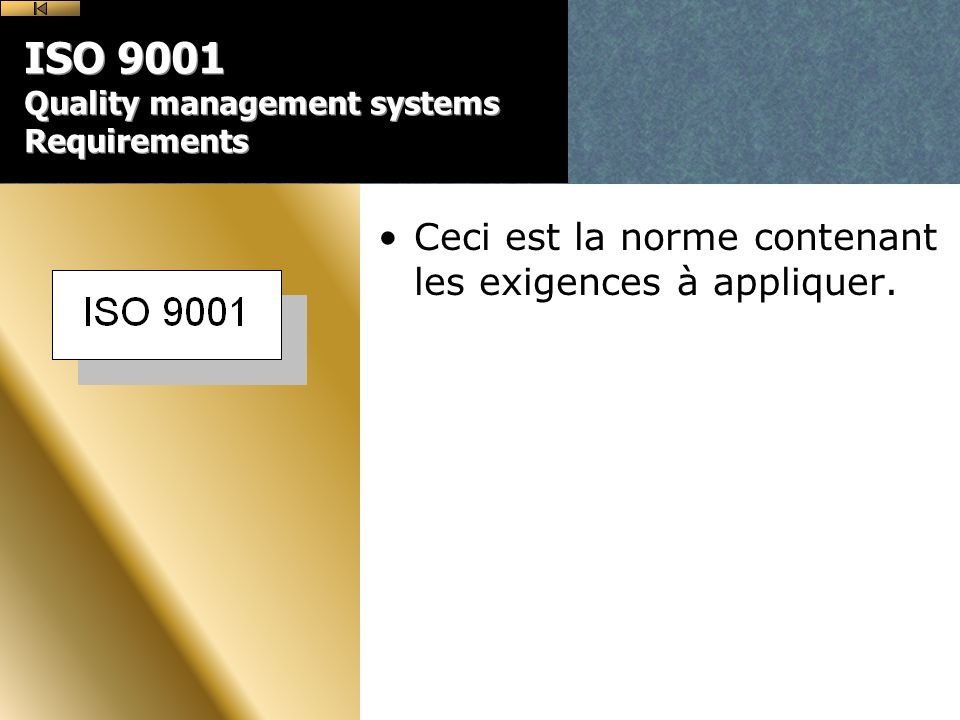 ISO 9001 Quality management systems Requirements