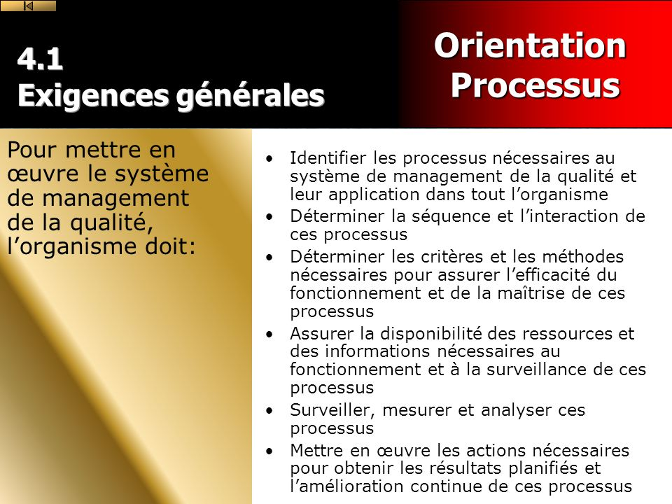 Orientation Processus