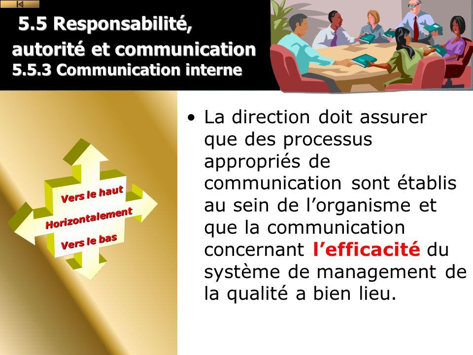5. 5 Responsabilité, autorité et communication 5. 5
