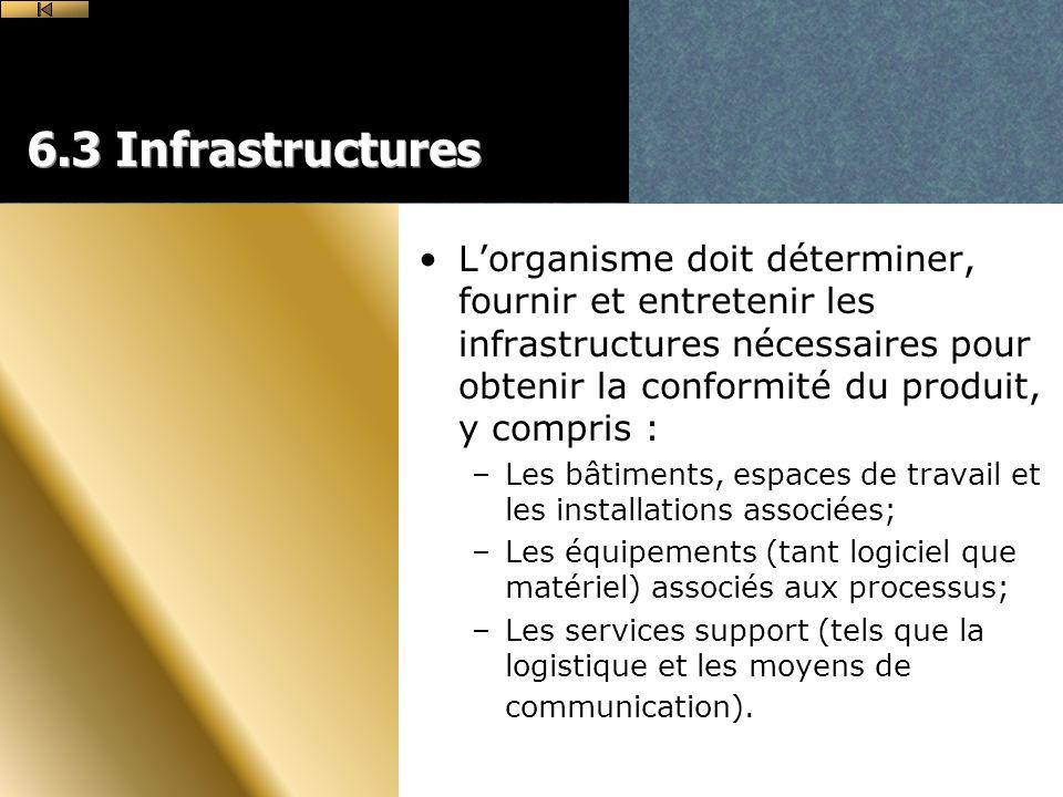 6.3 Infrastructures