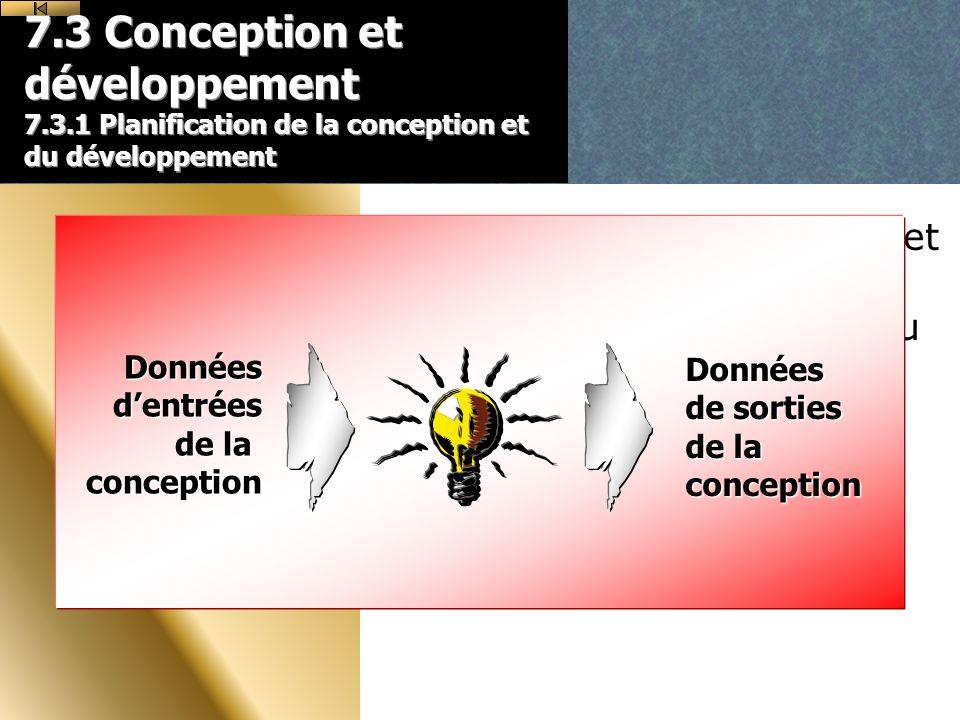 7. 3 Conception et développement 7. 3
