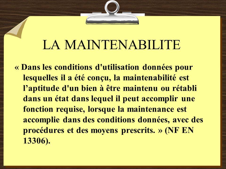 LA MAINTENABILITE
