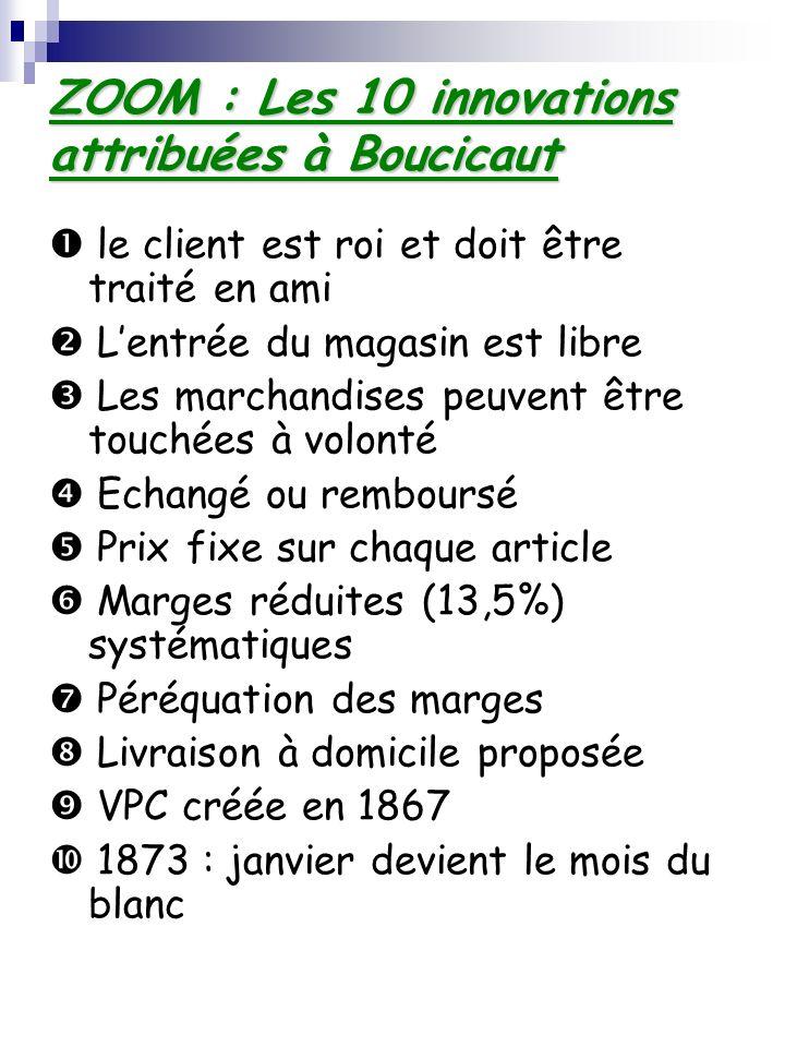 ZOOM : Les 10 innovations attribuées à Boucicaut