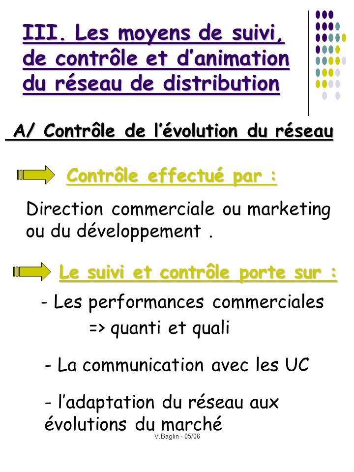 III. Les moyens de suivi, de contrôle et d'animation du réseau de distribution