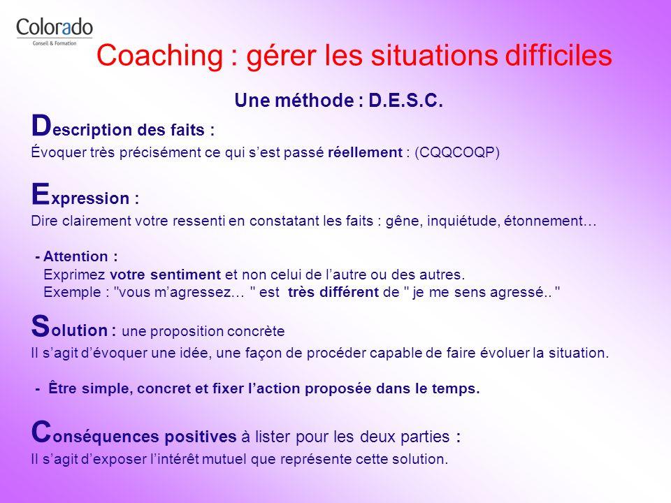 Coaching : gérer les situations difficiles
