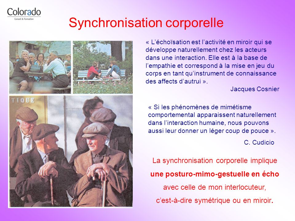 Synchronisation corporelle
