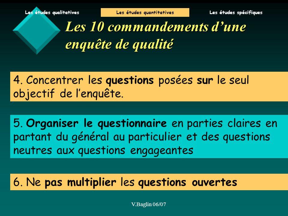 Les 10 commandements d'une enquête de qualité