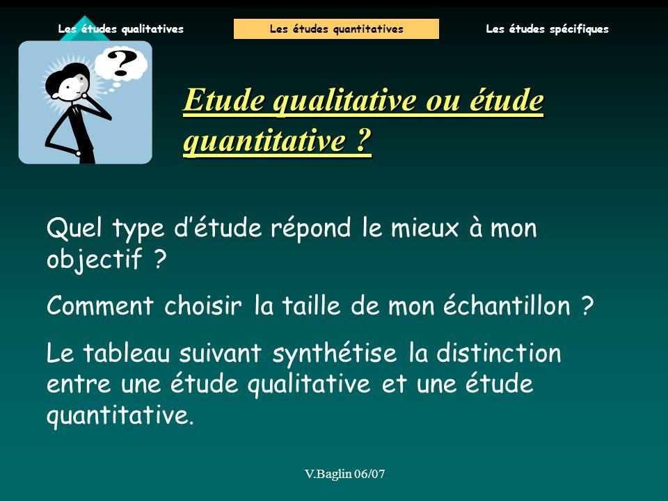 Etude qualitative ou étude quantitative