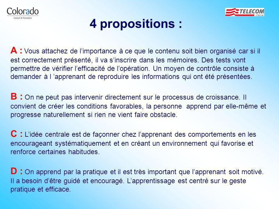 4 propositions :