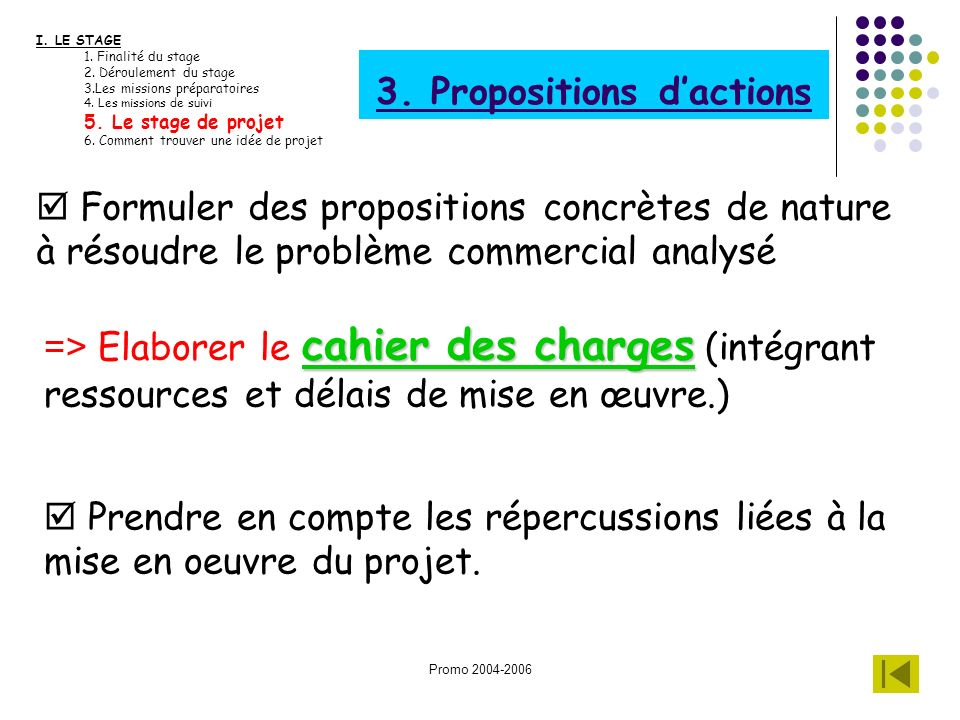 3. Propositions d'actions