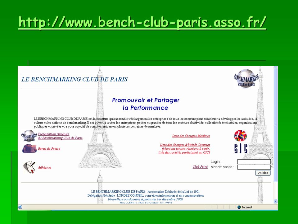 http://www.bench-club-paris.asso.fr/