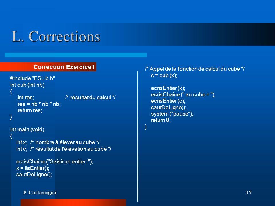 L. Corrections Correction Exercice1