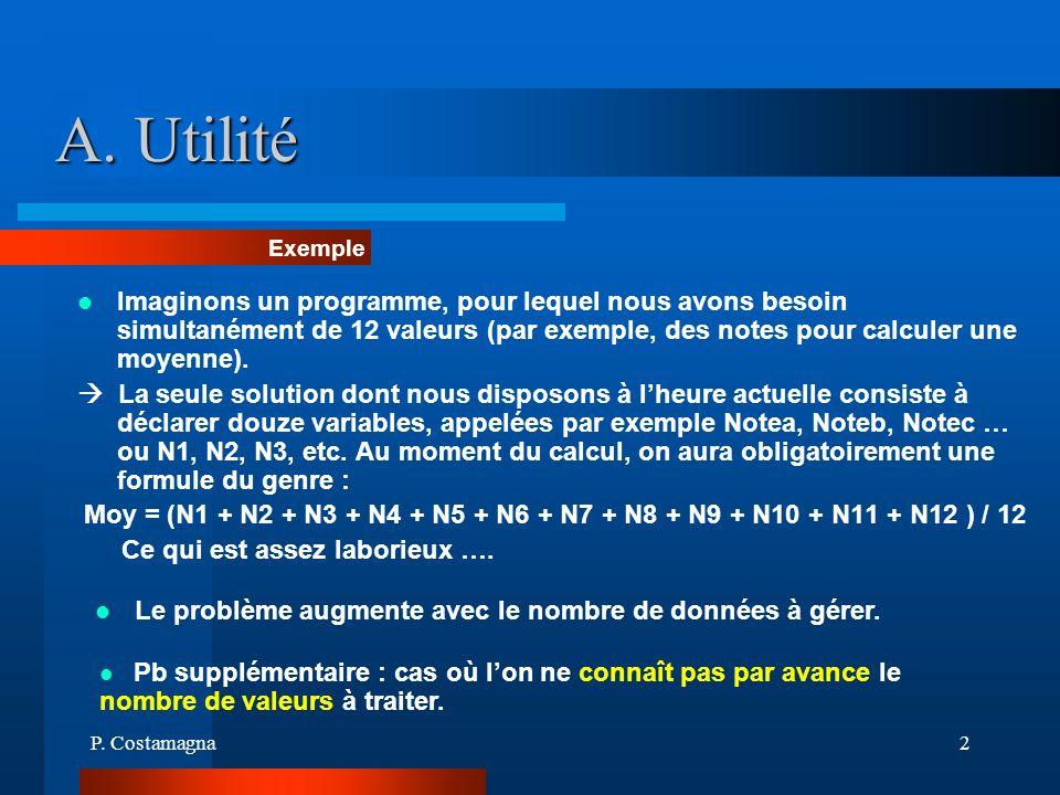 A. Utilité Exemple.