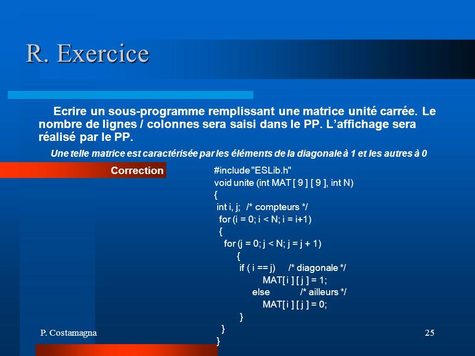 R. Exercice