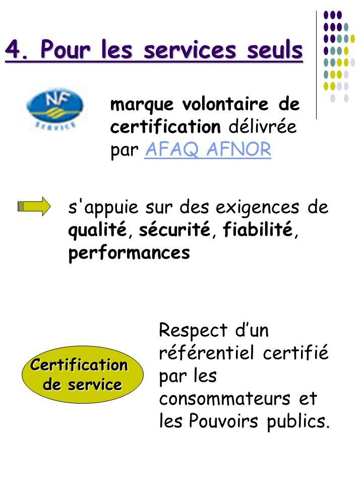 4. Pour les services seuls
