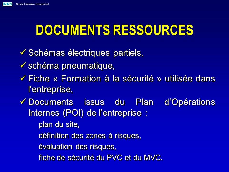 DOCUMENTS RESSOURCES Schémas électriques partiels, schéma pneumatique,