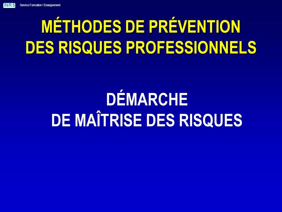 MÉTHODES DE PRÉVENTION DES RISQUES PROFESSIONNELS
