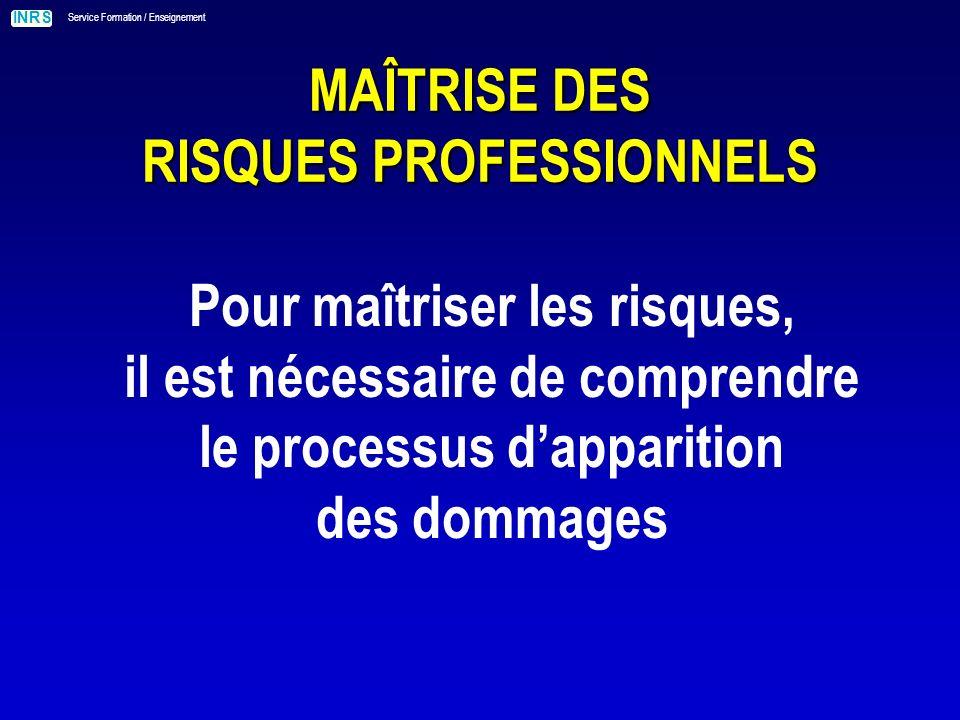 MAÎTRISE DES RISQUES PROFESSIONNELS