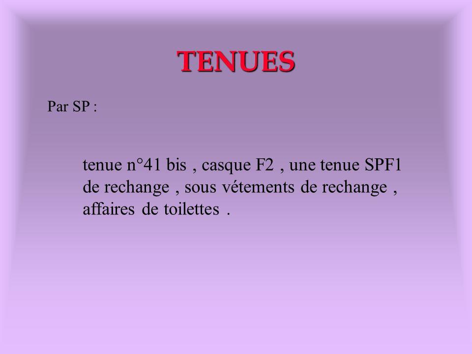 TENUES tenue n°41 bis , casque F2 , une tenue SPF1