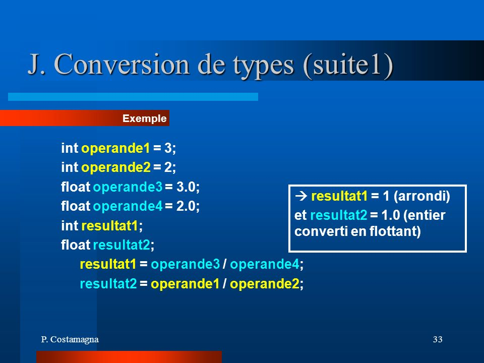 J. Conversion de types (suite1)