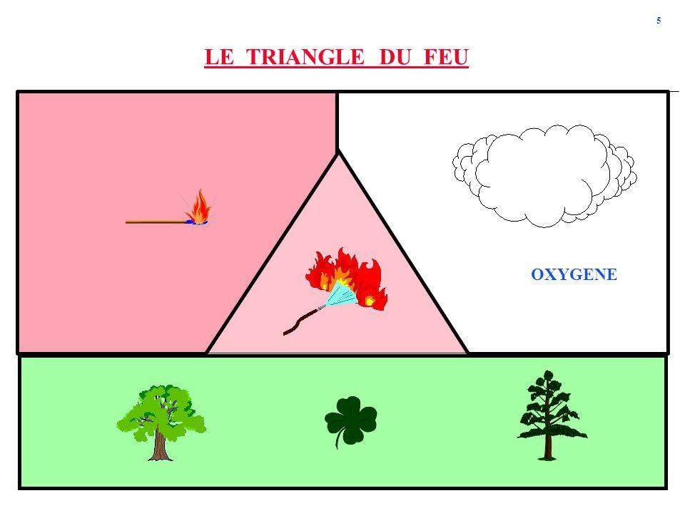 LE TRIANGLE DU FEU OXYGENE