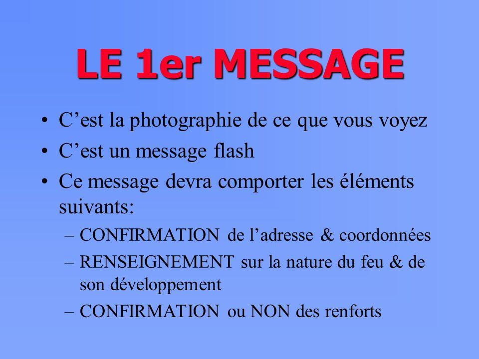 LE 1er MESSAGE C'est la photographie de ce que vous voyez