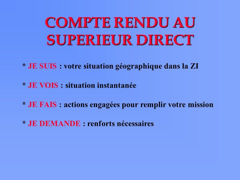 COMPTE RENDU AU SUPERIEUR DIRECT