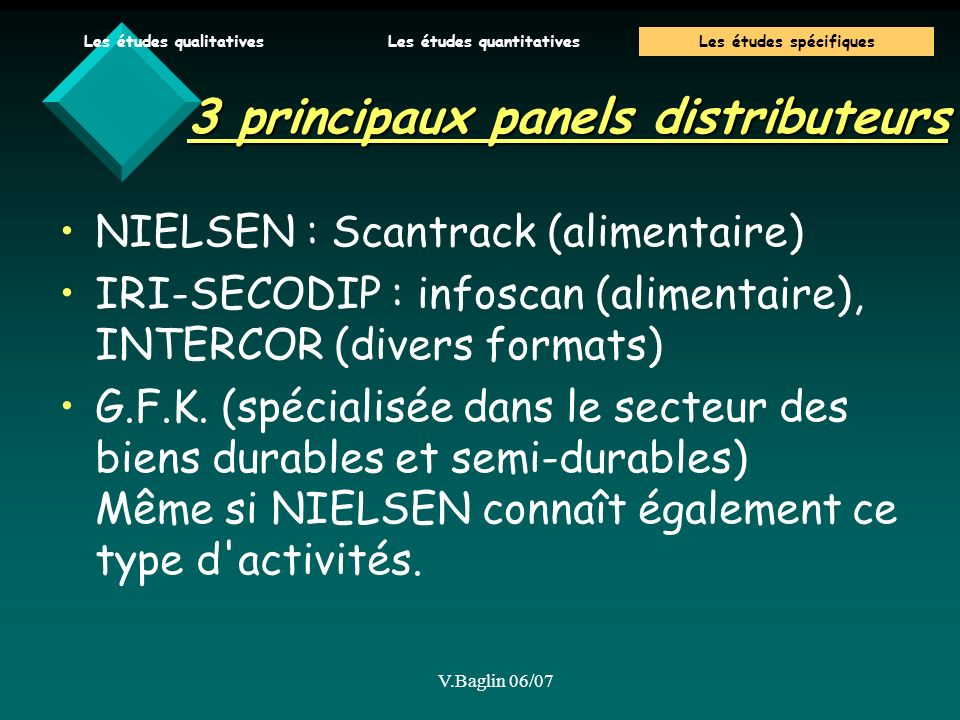 3 principaux panels distributeurs