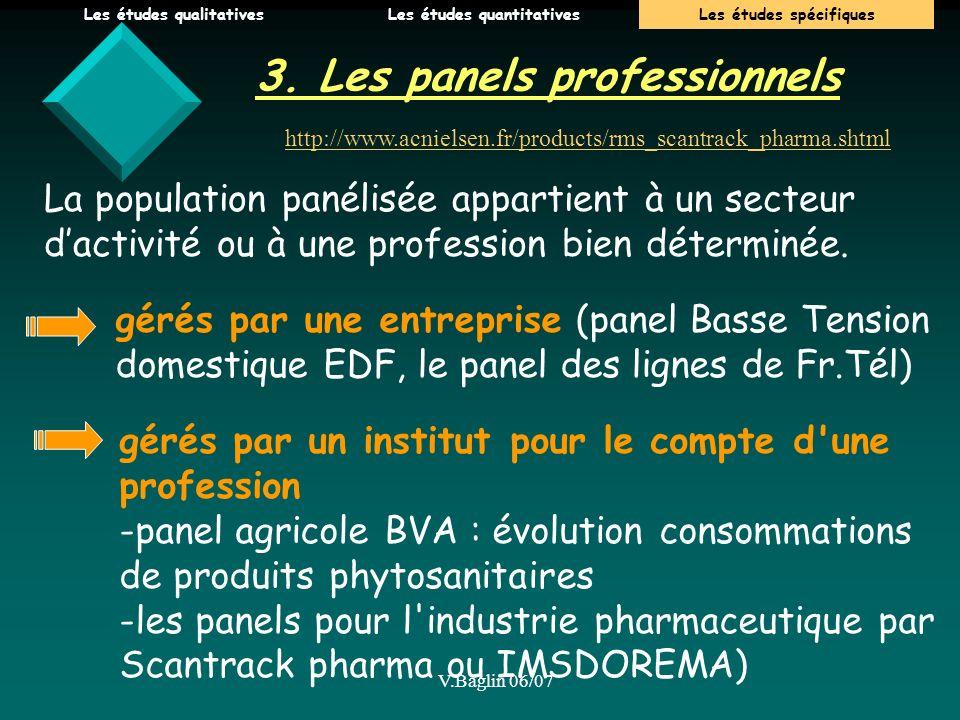 3. Les panels professionnels