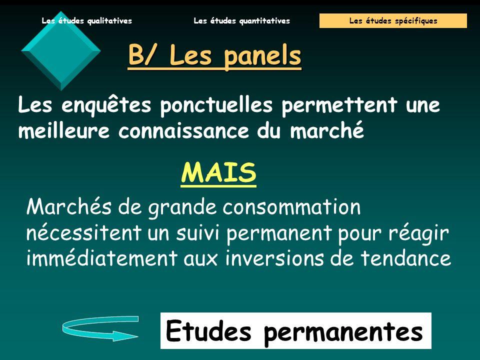 B/ Les panels MAIS Etudes permanentes