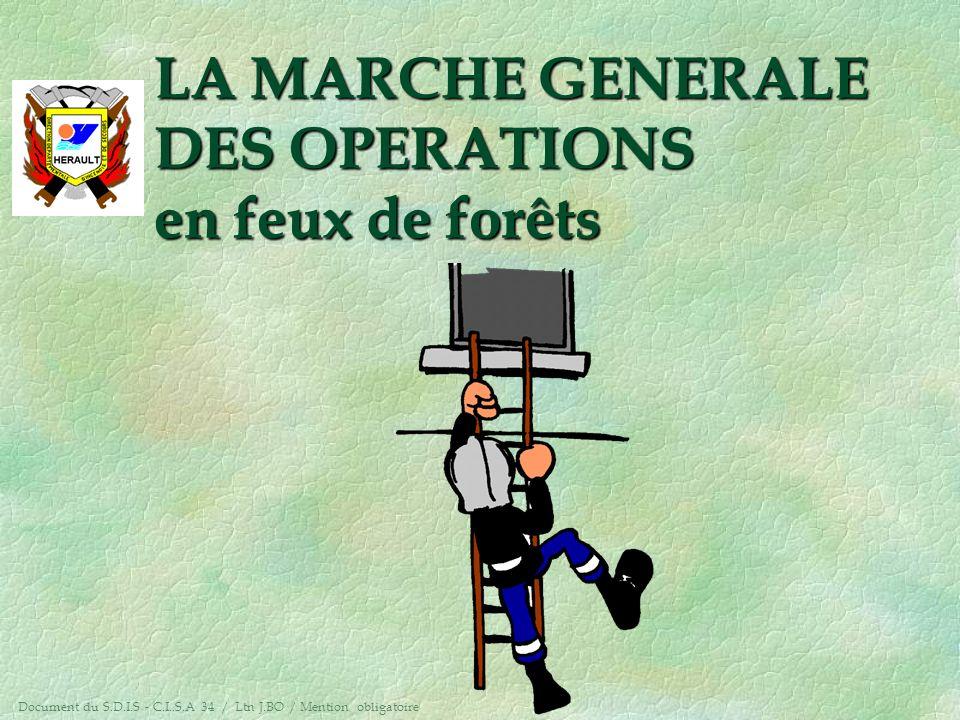 LA MARCHE GENERALE DES OPERATIONS en feux de forêts