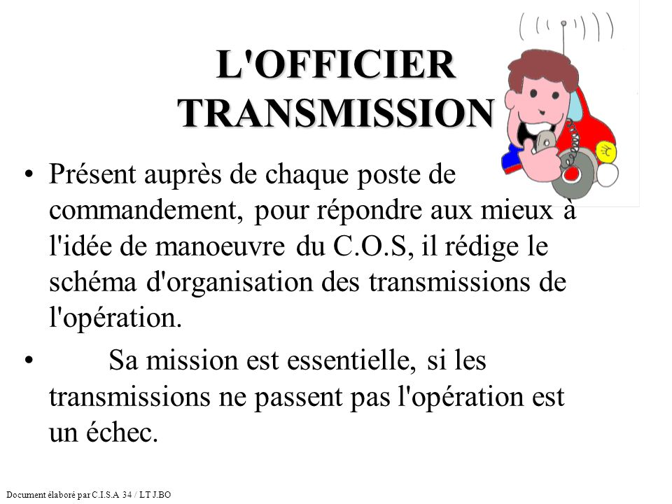 L OFFICIER TRANSMISSION