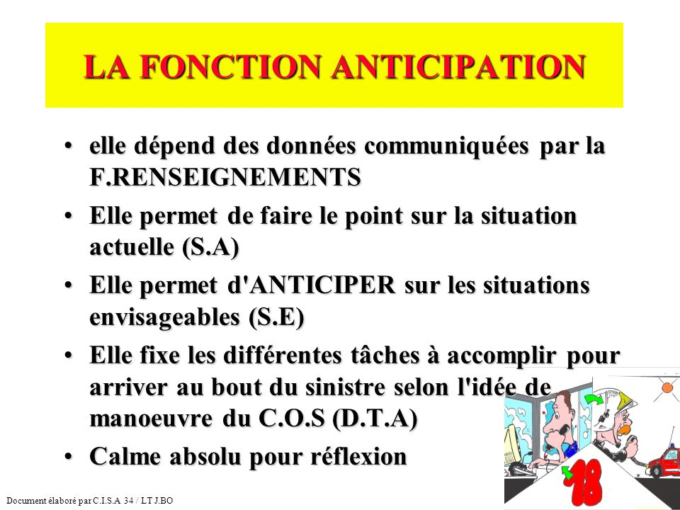 LA FONCTION ANTICIPATION