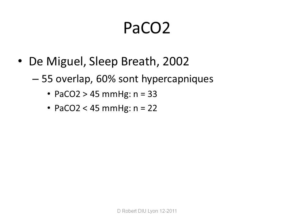 PaCO2 De Miguel, Sleep Breath, 2002