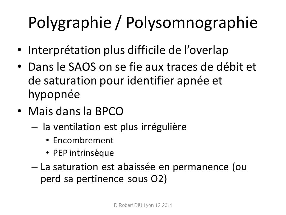 Polygraphie / Polysomnographie