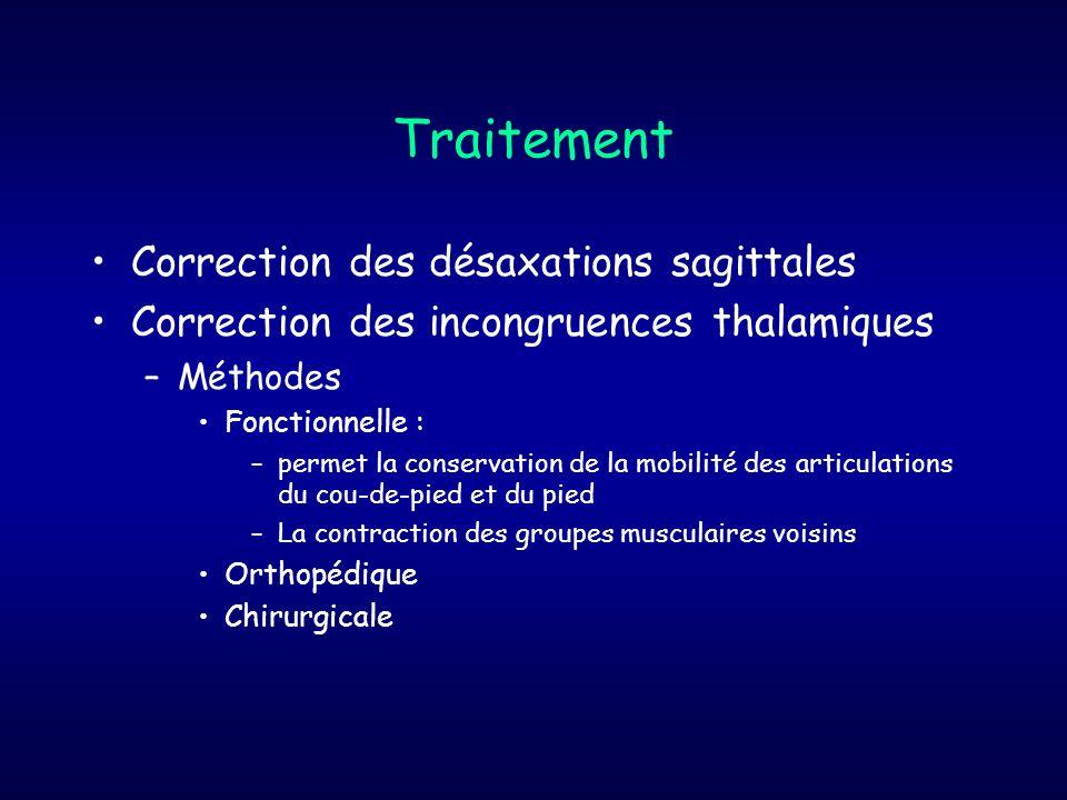 Traitement Correction des désaxations sagittales