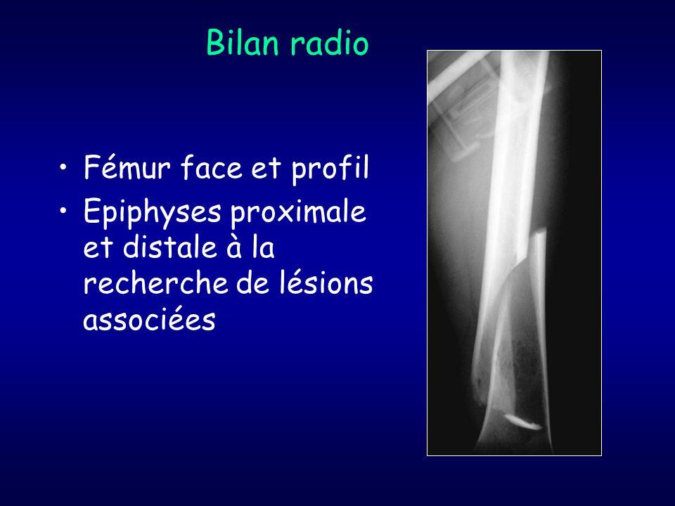 Bilan radio Fémur face et profil