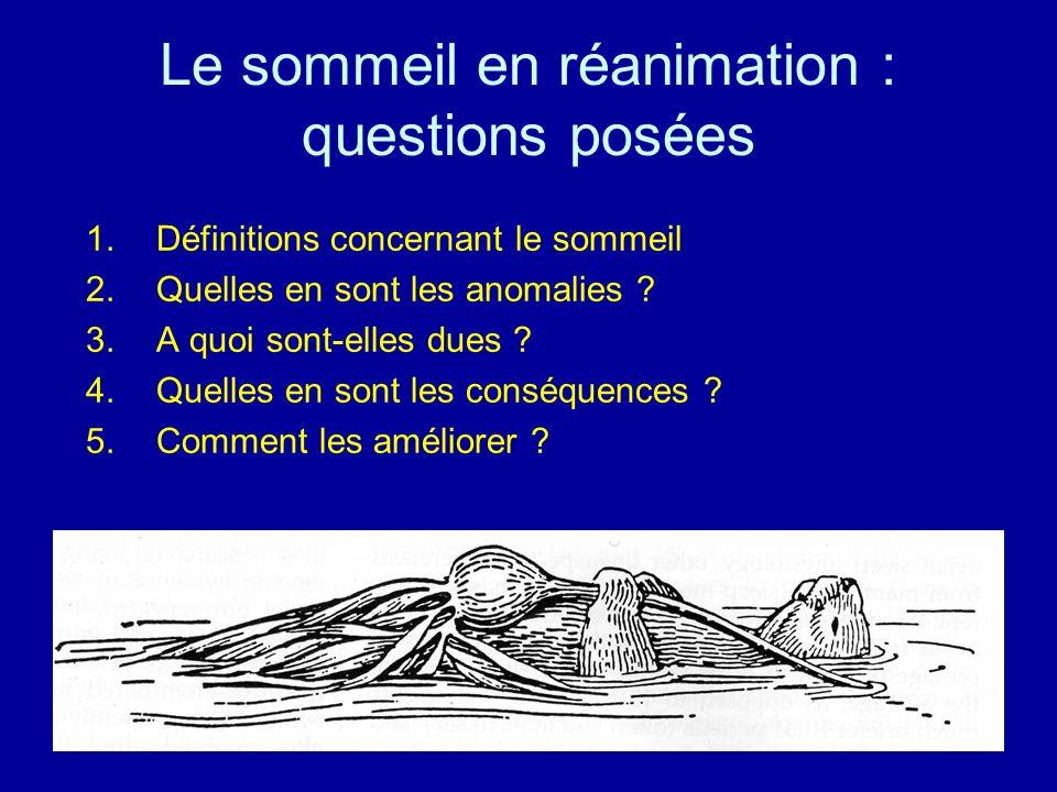 Le sommeil en réanimation : questions posées