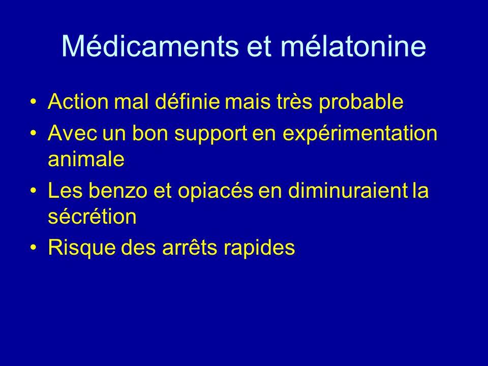 Médicaments et mélatonine