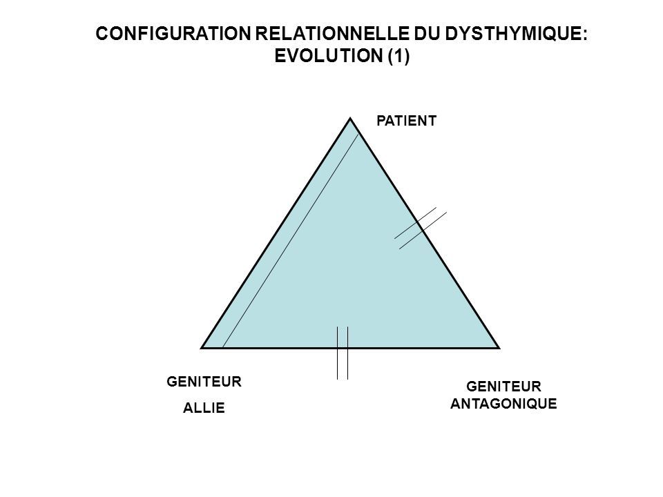 CONFIGURATION RELATIONNELLE DU DYSTHYMIQUE: EVOLUTION (1)