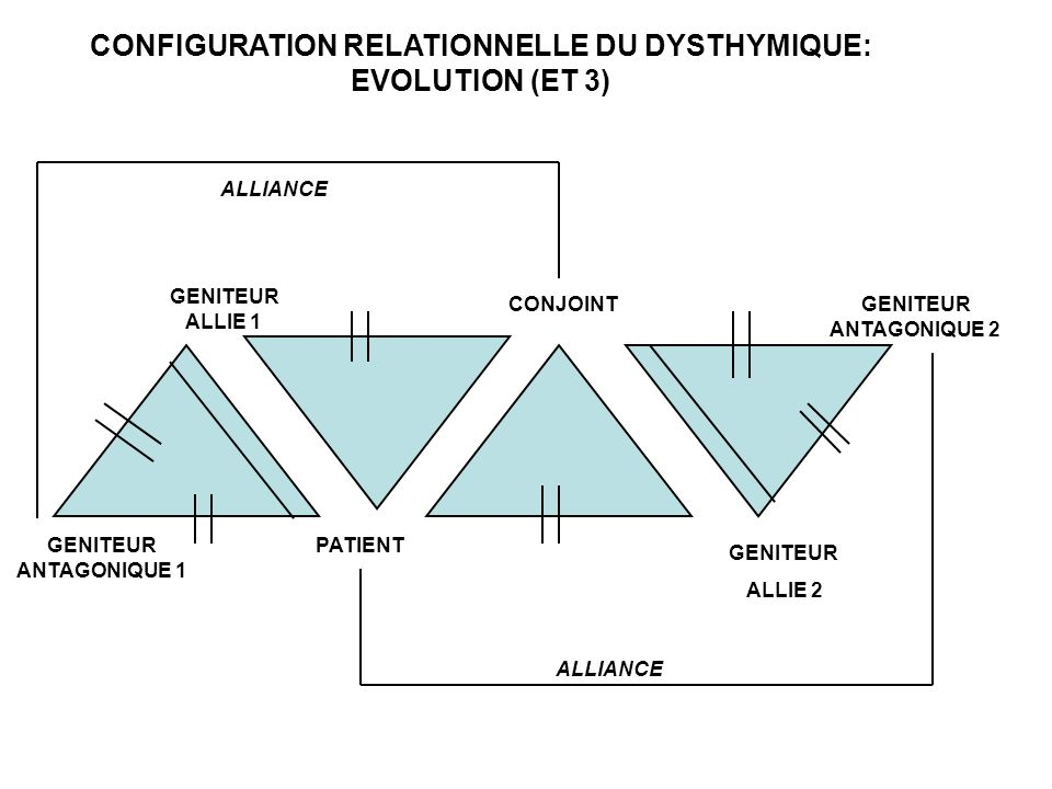 CONFIGURATION RELATIONNELLE DU DYSTHYMIQUE: EVOLUTION (ET 3)