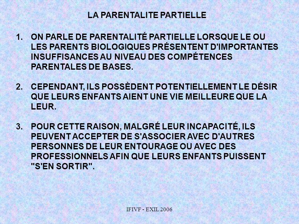 LA PARENTALITE PARTIELLE