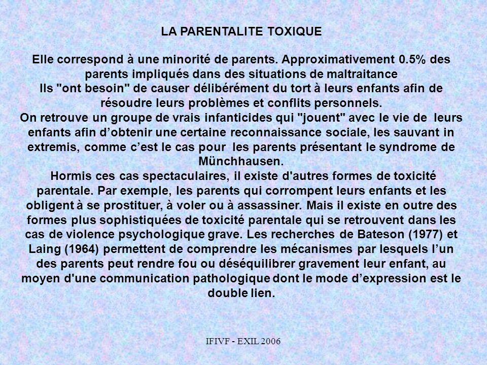 LA PARENTALITE TOXIQUE