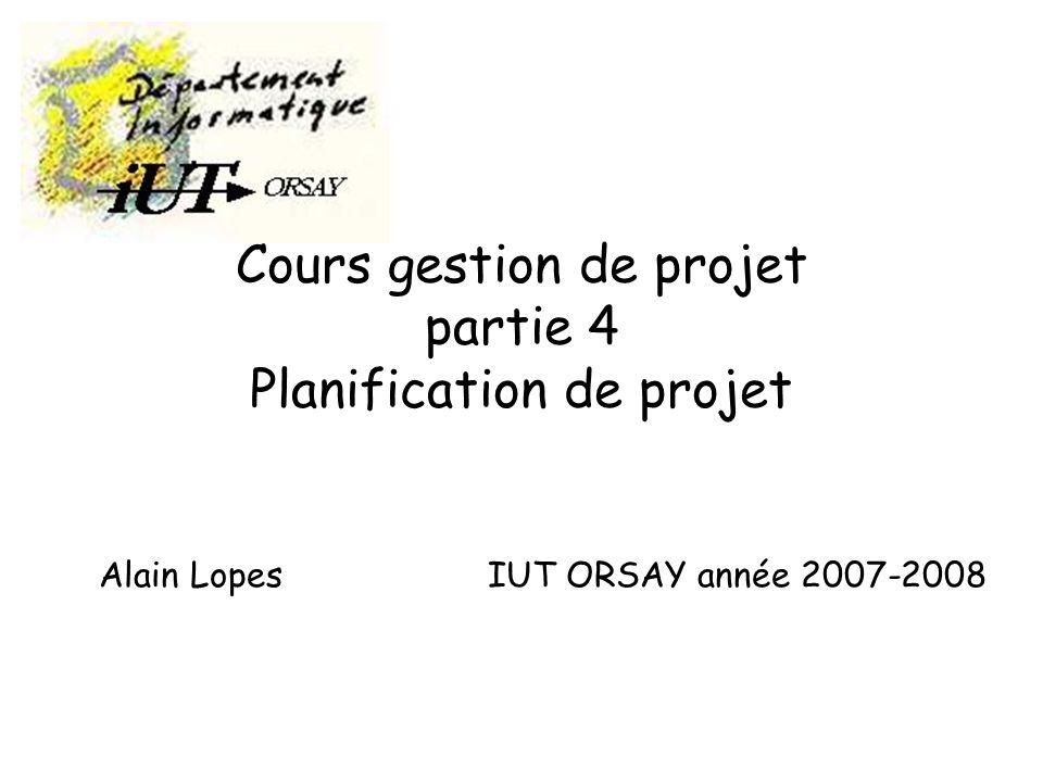 Cours gestion de projet partie 4 Planification de projet