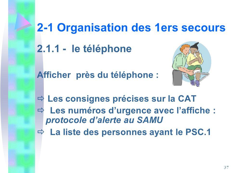 2-1 Organisation des 1ers secours