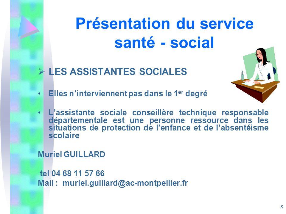 Présentation du service santé - social